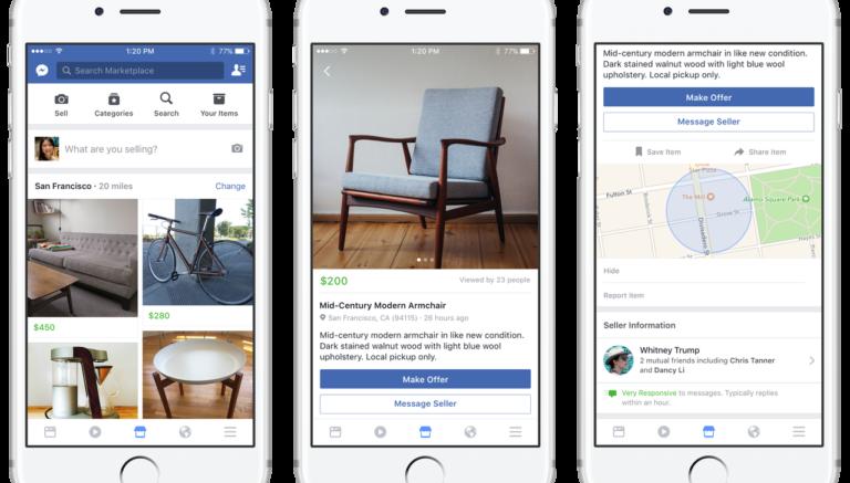 Facebook lancia Marketplace e sfida eBay